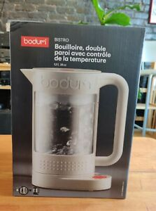 Bodum BISTRO Electric water Kettle Double Wall w Temperature Control (White)