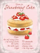 Strawberry Sponge Cake Baking Recipe Ingredients.  Fridge Magnet