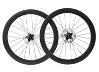 Disc brake Carbon Wheelset Clincher Tubeless Road Bike 700C Floating Rotor 55mm
