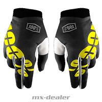 100% Prozent itrack Handschuhe Schwarz MTB DH MX BMX Motocross Enduro Quad ATV