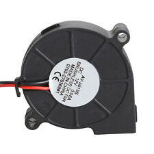 Black Brushless DC Cooling Blower Fan 2 Wires 5015S 12V 0.06A 50x15mm