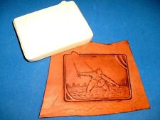 "Fisherman Panel Leather Emboss Plate 3 5/8"" x 2 3/4"""