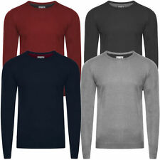 Acrylic Crew Neck Thin Knit Jumpers & Cardigans for Men