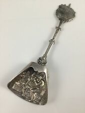Solid Silver Dutch Embossed Caddy Spoon Mount Vernon USA