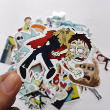 New35Pcs/lot Drama Rick and Morty Stickers Decal For Snowboard Laptop Luggage