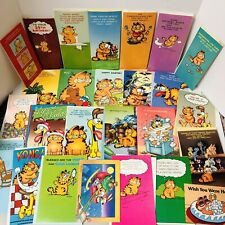 Vintage Garfield Greeting Card Lot Of 30+ Address Book Bookmarks Postcards