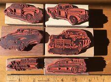 HUDSON RUBBER STAMP set of 6: vintage 1940 1942 1947 1948 classics Incl Truck!