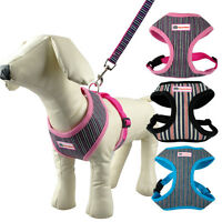Nylon Pet Dog Harness & Leash Soft for Small Medium Large Dogs Walking S M L XL