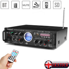 500W Bluetooth Stereo Receiver Amplifier Audio Karaoke Home Hi-Fi Amp FM USB SD
