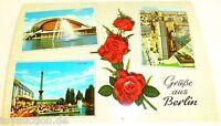 Salutations de Berlin Berlin Carte Postale 50er 60er Années 38 Å