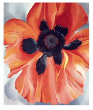 FLORAL ART PRINT Red Poppy, No. VI, 1928 by Georgia O'Keeffe Flower Poster 11x14