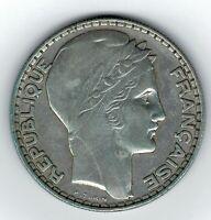 Moneda Francia 1933 20 francos Liberte Egalite Fraternite plata. 680 silver coin