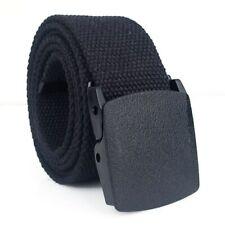 125cm Tactical Belt Adjustable Heavy Duty Military Waist Belts Metal Buckle BK