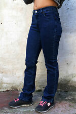 Guess Vintage Donna Jeans Stretch Denim Gamba Dritta High Rise Blu Scuro W26 UK8