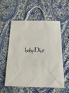 Baby Dior Luxury Carrier Bag - Medium Size With Ribbon and Tissue Paper