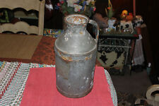 Antique Metal Milk Dairy Can Container W/Handle-Country Decor-Barn Primitive