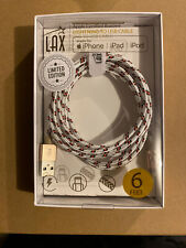 LAX Apple Certified Braided Lightning to USB 6 Feet Charger Cable iPhone Pad