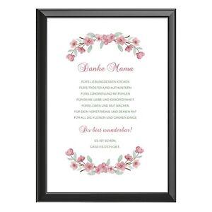 Schönes Geschenk zum Muttertag - Bild (A4) - mit oder ohne Rahmen