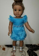 """American Girl MINI 6.5/"""" Doll School Party Casual Silver Lace Up Boots Shoes"""