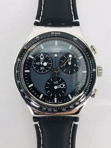 Swatch Irony Watch Chrono WINDFALL Swiss Date Chronograph - New Band - New Batt!