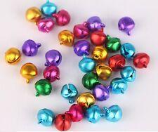 "100Pcs 6mm (1/4"")mixed colors Jingle Bells DIY Findings Crafts Jewellery Beads"