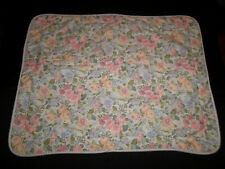 Laura Ashley STD Sham Pair Sycamore Quilted Floral Cottage Pink Blue yellow