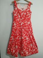 Joe Browns Red And White Floral 50's Style Dress Size 12 Landgirl flare summer
