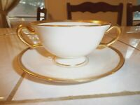 Lenox Footed Cream Soup Cup / Bowl and Saucer #S8 Wright Tyndale & Van Roden Inc