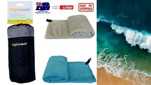 Microfibre Travel Towel Lightweight Quick Drying Ultra Absorbent Gym Sport AU