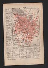 Landkarte city map 1890: Stadtplan: AACHEN. Maßstab: 1 : 23 000 Deutschland