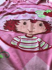 RARE Vintage  Strawberry Shortcake Fleece Throw Blanket