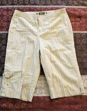 New Womens Eddie Bauer Mercer Fit Capri Beige Pants Size 6