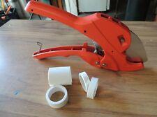 "1 1/4"" PVC Pipe Cutter, 1 1/2"" SCH 160 Plumbing/Irrigation PEX, ABS Tubing Hose"