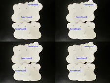 Electrode Pads 12 Pairs White (24) Gold Hand XFT-320 XFT-502 Compatible Reusable