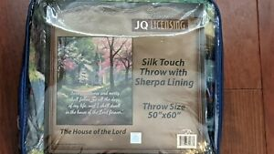 The House Of The Lord Silk Touch with Sherpa Lining Throw Blanket -Size 50 X 60