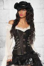 "Steampunk corset ""Novia pirata"" corsé incl. Tanga Carnaval"