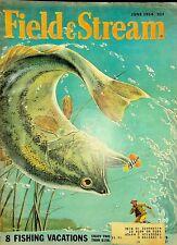 Vintage Field & Stream June 1954 Hunting Fishing Camping Sporting