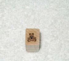 Hero Arts -  Rubber Stamp - Teddy Bear - Tiny Size -