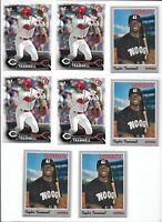Taylor Trammell Mariners Lot of (8) 2016 1st Bowman #BD-13 & Heritage Rookie MNT