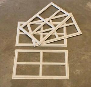 Amarr Stockton Decratrim Window Insert Short Panel White Garage Door Decorative