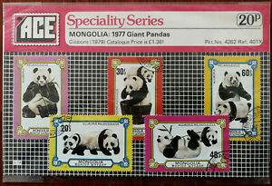 Mongolia: 1977 Giant Pandas Ace Speciality Series, Gibbons (1979) Stamps Set