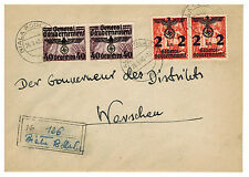 1940 Biala Podlaska Poland Germany GG cover to Governor Warsaw