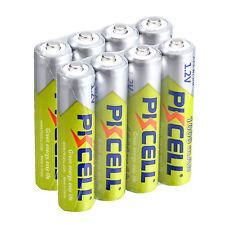 PKCELL 8pcs AAA Baterías Ni-MH 1000mah 1.2v 3a pilas recargables para juguetes