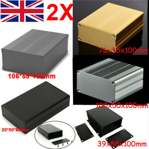2X Aluminum Instrument Box Enclosure Electronic Project Case PCB Junction Box