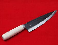 "Knife Sashimi Rail Cast Iron Forged Deba Chef Kitchen 8"" Blade Hand Made Korea"