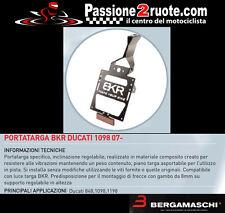 Portatarga Bkr ducati 848 1098 1198 2007 porta targa license plate regolabile
