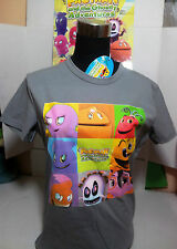 "PAC-MAN T-SHIRT TG.""M"" MAGLIETTA GRIGIO BANDAI AND GHOSTLY ADVENTURES ORIGINALE"