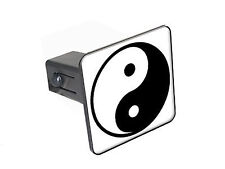 "Yin and Yang - 1 1/4 inch (1.25"") Trailer Hitch Cover Plug Insert"