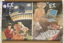 2X E.T the EXTRA TERRESTRIAL poster McDONALDS promo, PHONE HOME, KIDS SPACESHIP