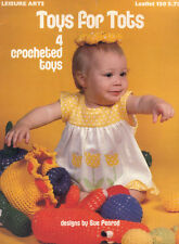 Toys For Tots 4 Crocheted Toys Crochet Pattern Leisure Arts 150 Leaflet